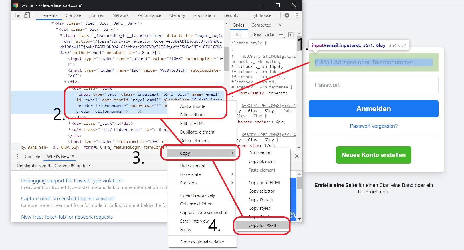 CSS-Selektor-Mit-Chrome-Dev-Tools-Full-Xpath